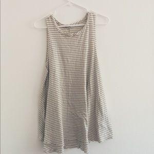 Tops - striped long  tank shirt